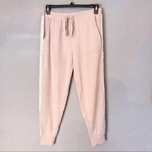NEW Flora Nikrooz Pink Fuzzy Jogger Pajama Pants